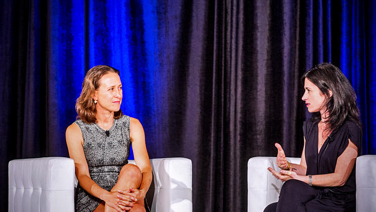 <p>&quot;You own your own data,&quot; said <a href=&quot;http://www.fastcompany.com/3018598/for-99-this-ceo-can-tell-you-what-might-kill-you-inside-23andme-founder-anne-wojcickis-dna-r&quot; target=&quot;_self&quot;>23andMe founder and CEO Anne Wojcicki</a> (left). She told <em>Fast Company</em> Editorial Director Jill Bernstein that her $99 DNA testing company was out to spark a revolution and described the current medical business as a &quot;middle man for the insurance industry.&quot;</p>