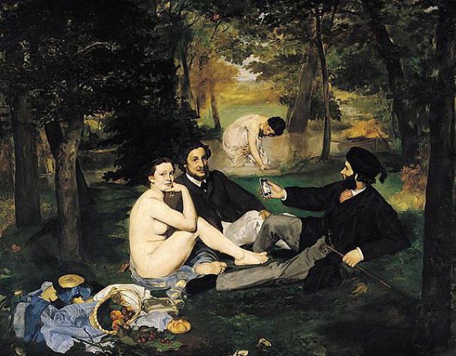 "<p>""The Luncheon On the Grass"" by Edouard Manet</p>"