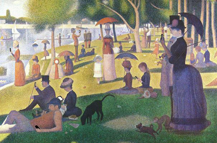 "<p>""A Sunday Afternoon on the Island of La Grande Jatte"" by Georges Seurat</p>"