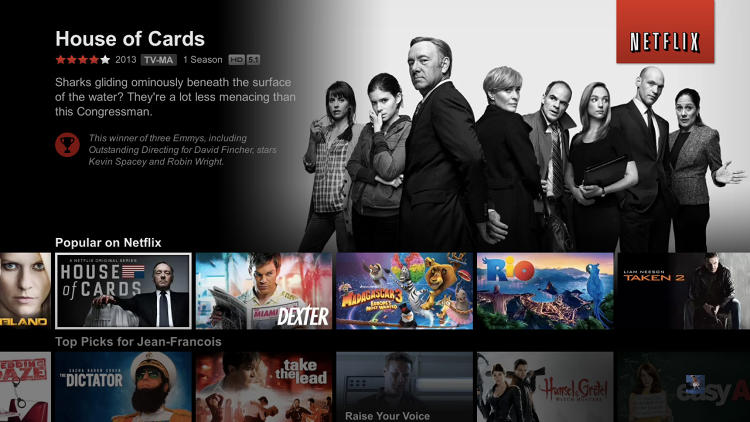 <p>Netflix's new television viewing experience--which will roll out on Xbox 360, PlayStation 3, PlayStation 4, new Blu-ray players, new Smart TVs, and Roku 3 starting November 13--replaces standard images of video boxes previously used in Netflix's browsing mode with more comprehensive snapshots of content.</p>