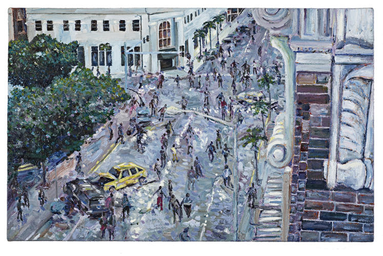 <p>What would have happened if Monet or Pissarro had watched <em>Dawn of the Dead</em> and <em>28 Days Later</em>? You'd get oil paintings like Zombiescapes.</p>