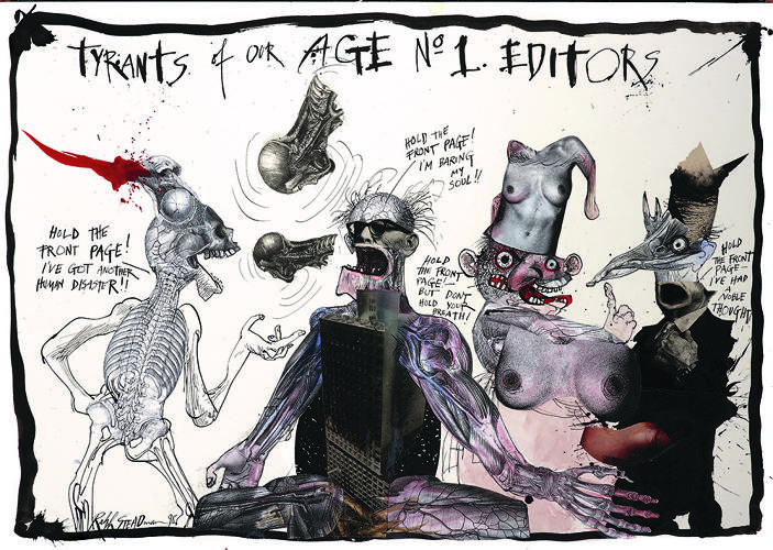 <p>&quot;It was so organic, a stream of consciousness!&quot; Steadman says of the process of making this monolithic book.</p>