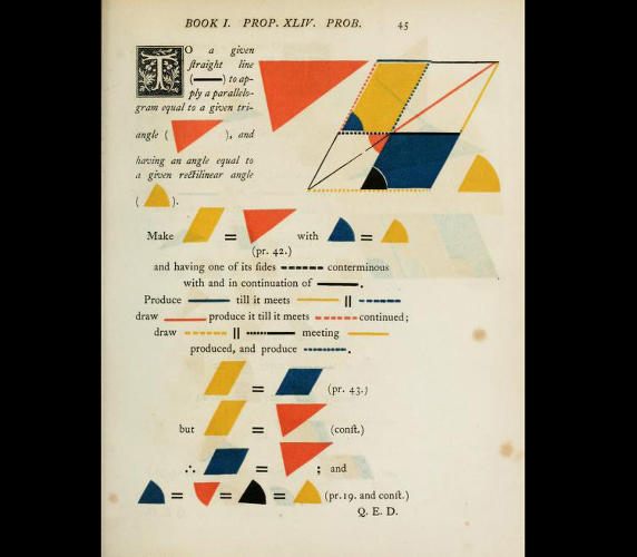 <p>To Friel, Byrne's version of <em>The Elements of Euclid</em> represents two of the things papercrafters love best: color and bringing geometry to life.</p>