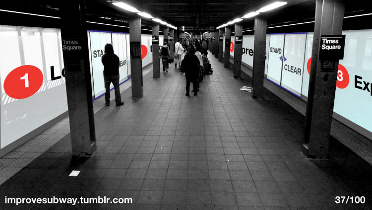 <p>100 ideas <a href=&quot;http://www.fastcoexist.com/1682379/100-ideas-to-improve-new-york-citys-subway&quot; target=&quot;_self&quot;>to improve</a> the NYC subway.</p>