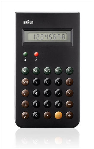 <p>For the fan of retro designs here's the Deiter Rams-designed ET 66 calculator. First issued in 1987, its rounded buttons and color-coding inspired waves of copycats. <a href=&quot;http://www.fastcodesign.com/1672632/braun-reissues-a-dieter-rams-design-classic-the-et-66-calculator&quot; target=&quot;_self&quot;>Braun reissued it this year</a>. <a href=&quot;http://www.vettedshop.com/collections/accessories/products/braun-bne001-et66-calculator&quot; target=&quot;_blank&quot;>Get one for $50</a>.</p>