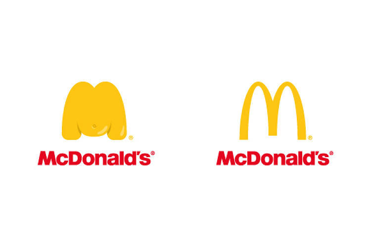 <p><a href=&quot;http://www.fastcoexist.com/3019719/these-chubby-fast-food-logos-will-make-you-think-twice-about-chowing-down&quot; target=&quot;_self&quot;>What happens if McDonald's was eating McDonald's</a>: some pudgy golden arches.</p>