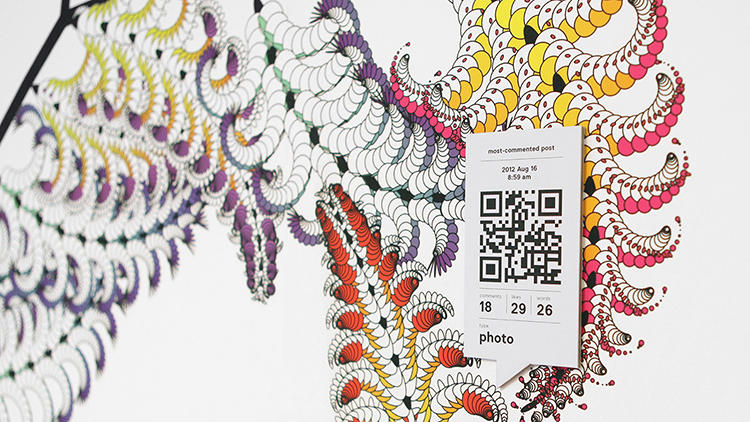 <p>Cedric Kiefer, one of onformative's co-founders, says the visualization was inspired by botany drawings from the early 19th century.</p>