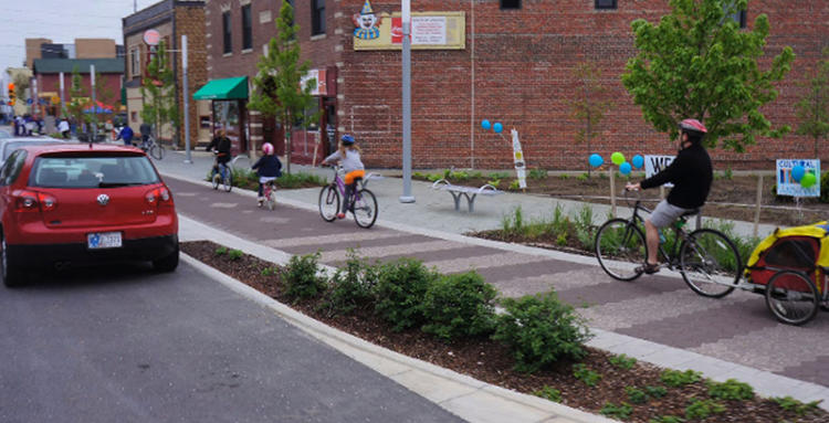 <p>The Indianapolis Cultural Trail is one of America's best bike lanes, according to People For Bikes' new rankings.</p>