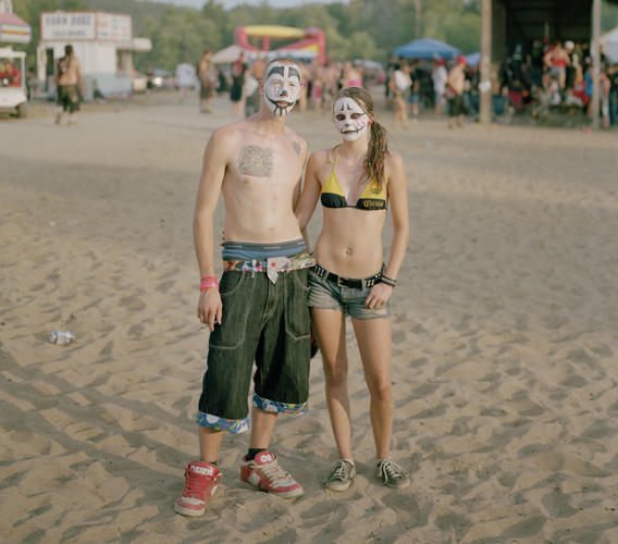 <p>For four days every year, thousands of Juggalos gather for a celebration of the things they hold dear: Insane Clown Posse, drugs, boobs, and food. The Gathering of the Juggalos might appear as clownish to outsiders as the mimish face paint Juggalos wear, but it is surprisingly full of humanity--the subject of Daniel Cronin's incredible work. Check out more of his photos <a href=&quot;http://www.fastcodesign.com/1672266/shocking-revelation-juggalos-are-humans-too#5&quot; target=&quot;_self&quot;>here</a>.</p>