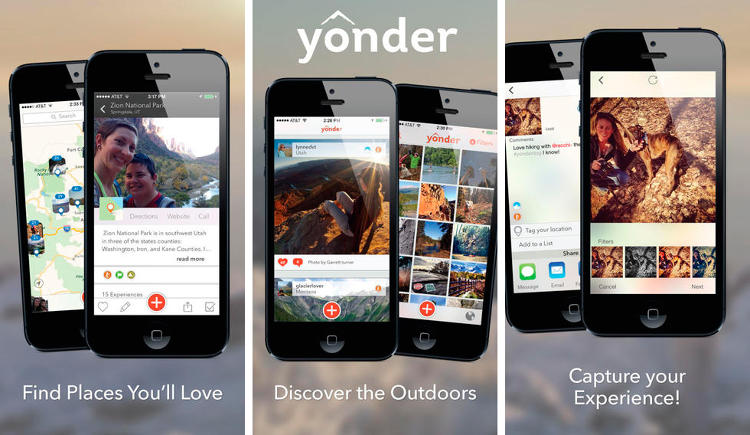 <p>Is Yonder a Foursquare for outdoorsy types?</p>  <p>Maybe. The app allows your to &quot;discover thousands of geo-located images and videos around the globe&quot; and search a database of over 20,000 destinations. You can follow the travels of your fellow skiers, bikers, and hikers, and share all your best experiences on social networks. (<a href=&quot;https://itunes.apple.com/us/app/id643341612?mt=8&quot; target=&quot;_blank&quot;>iOS</a>)</p>