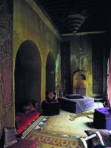 <p>The interior of Franca Sozzani's riad in Marrakesh, Morocco.</p>