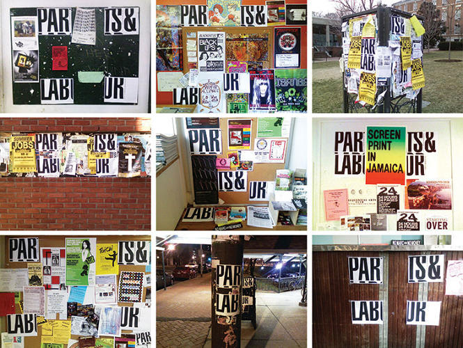 <p>Bassist Bruce Willens and singer Nolen Strals met at MICA and founded design studio Post Typography. Here, their posters for the band Parts + Labor.</p>