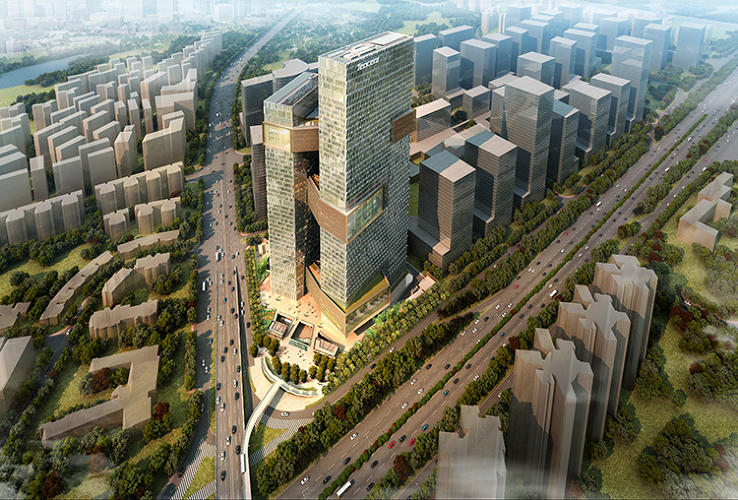 <p>In building a new corporate headquarters, Chinese Internet giant Tencent wanted to fit the characteristics of a sprawling American suburban tech campus in Shenzhen, one of the fastest growing cities in China.</p>