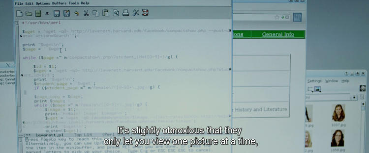 <p>The code used in <em>The Social Network</em> looks like it might have been written specially for the film, according to Graham-Cumming.</p>
