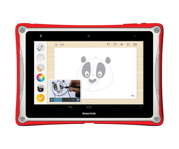 <p>In the &quot;Be An Artist&quot; program on the new DreamTab, children can learn drawing skills via a private video tutorial from DreamWorks animators, including Dave Burgess, the studio's head of character animation. Here's Burgess demonstrating how to sketch Po, from <em>Kung Fu Panda</em>.</p>