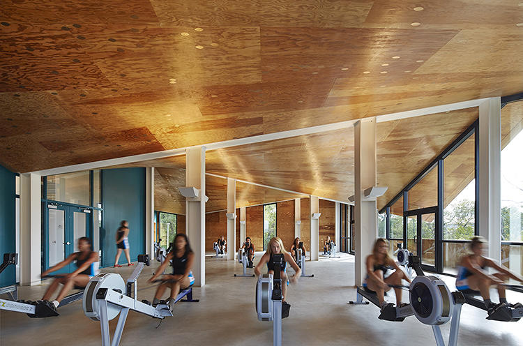 <p>Exercise equipment and indoor rowing tanks will allow training to continue even during the city's icy winters.</p>