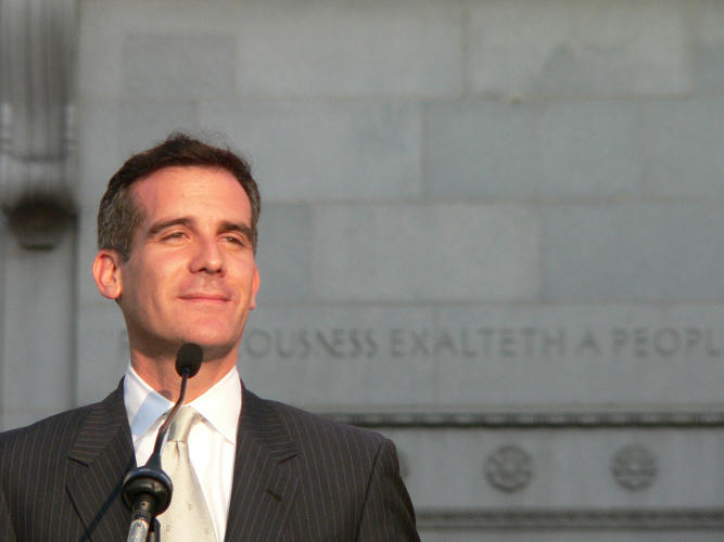 <p>LA mayor Eric Garcetti is the youngest for the city in more than a century. <em>Read more: <a href=&quot;http://www.fastcoexist.com/3026680/las-new-mayor-keeps-a-low-profile-in-trying-to-get-business-booming-in-his-city&quot; target=&quot;_self&quot;>LA's New Mayor Keeps A Low Profile In Trying To Get Business Booming In His City</a></em></p>
