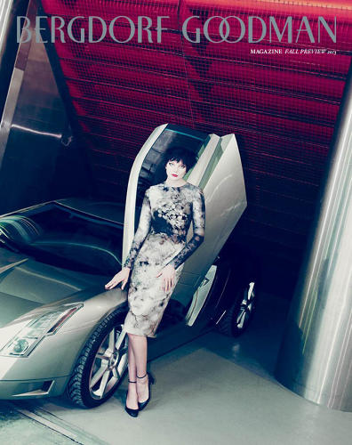 <p>The Cadillac Ciel concept vehicle on the cover of Bergdorf Goodman's June 2013 issue. Note: no rich old white guys here.</p>