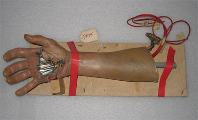 <p>Luke's artificial hand.</p>