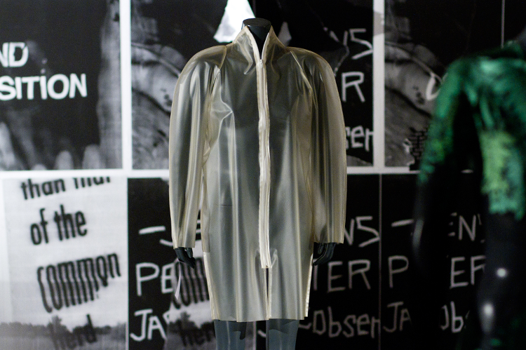 <p>In December 2013, Byronesque marked their one-year anniversary with a multimedia exhibition, Byronesque.com//OFFLINE, which they described as a &quot;fashion retrospective you can buy.&quot; A Martin Margiela coat at the Byronesque.com//OFFLINE exhibit.</p>