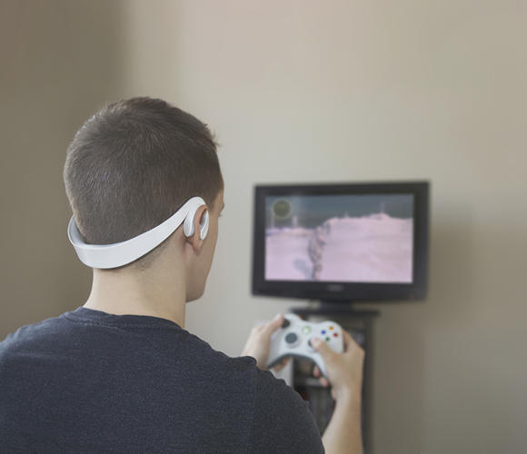 <p>Immersion is a headset that measures your pulse through your ear.</p>