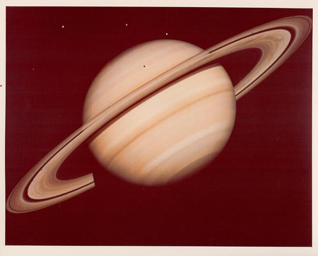 <p>Saturn, as seen from Voyager 1, 1980</p>