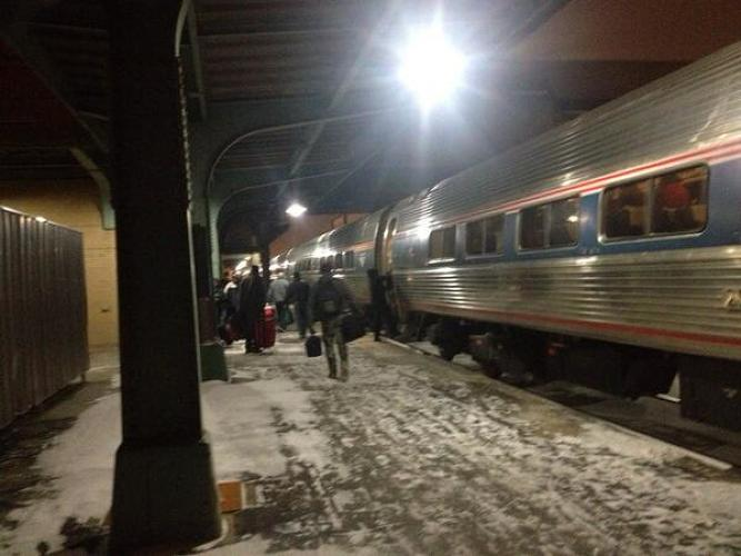 <p>&quot;Farewell train #449. Can't say we hardly knew you.&quot;</p>