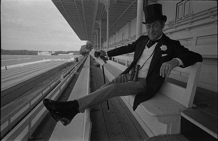 <p>Actor Rex Harrison in character for <em>A Flea in her Ear, </em>1968.</p>
