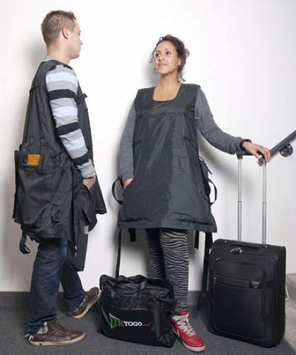 <p>It basically looks like a garbage bag that you wear.</p>