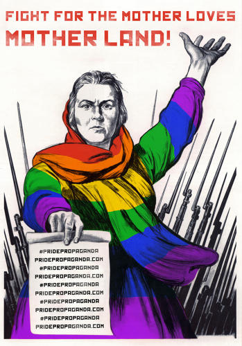 <p>To show support for gay rights in Russia, a group called <a href=&quot;http://pridepropaganda.com/&quot; target=&quot;_blank&quot;>Pride Propaganda</a>, revises old Soviet Propaganda posters to proudly feature rainbow flags galore.</p>