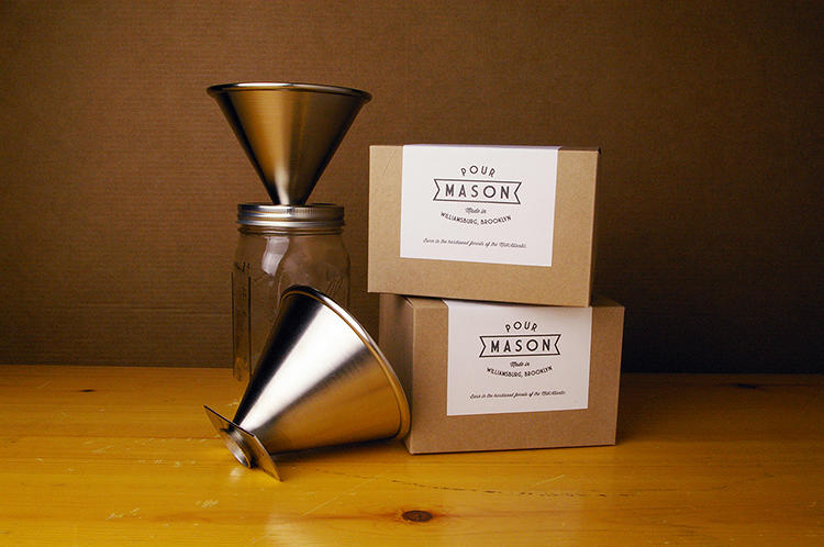 <p>It seems to be an immutable law of hydrodynamics that if something tastes good, it usually tastes better coming out of a mason jar. New York's Intelligent Design Company is hoping that holds true, even for pour-over coffee.</p>