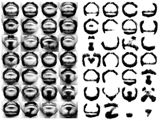 <p>Over the course of nearly two years, he shaved his beard into the shape of every letter of the alphabet, plus a period and a comma.</p>
