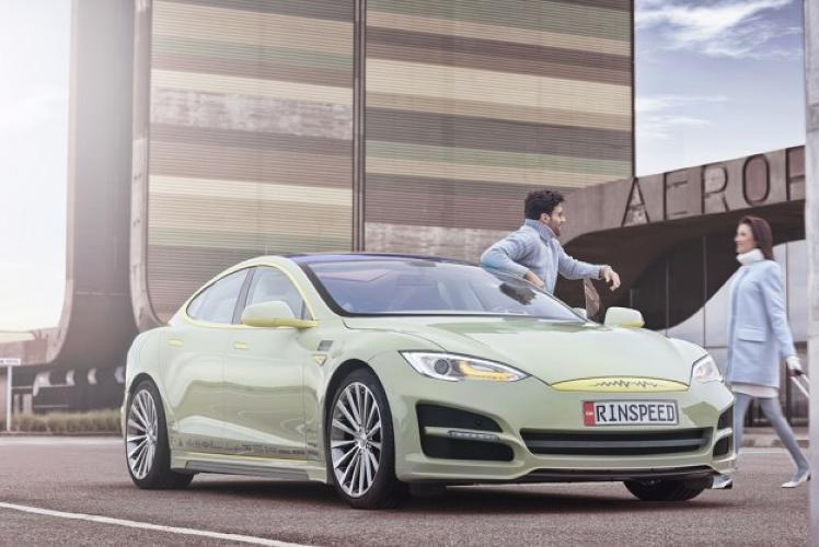 <p>A modified Tesla S sedan could be the future of conference rooms.</p>