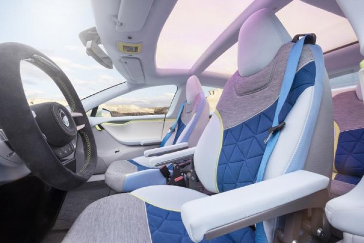 <p>Featuring seats designed by Otto Bock Mobility Solutions--a manufacturer of medical prosthetics, of all things--passengers can seat themselves in one of up to 20 different positions.</p>