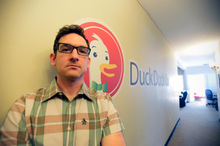 <p>DuckDuckGo founder Gabriel Weinberg in the company's Paoli, PA headquarters.</p>