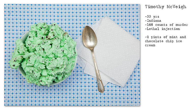 <p>This photo series captures the last meals of inmates on death row.</p>