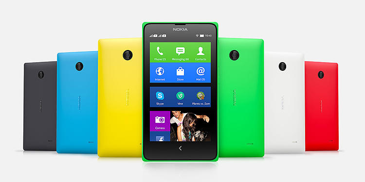 <p>The new family of Nokia X Android phones, available in lots of pretty colors.</p>