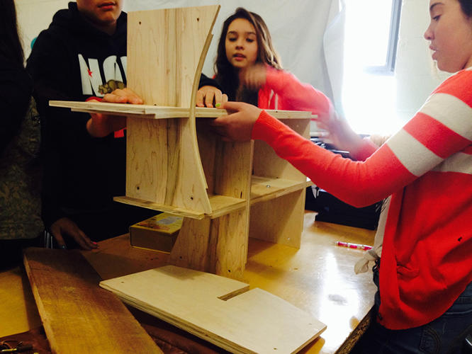 <p>In the past, other Studio H students--all high-schoolers-- dreamed up and built everything from a farmers market to a shipping container classroom.</p>