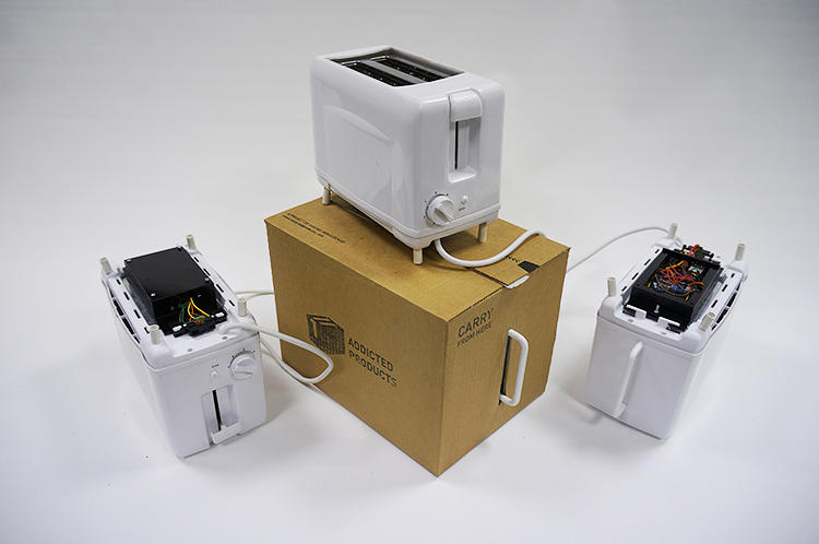 <p>Each toaster wants to be used, and if it's not, the toaster complains and tells the network that it wants to go somewhere else.</p>