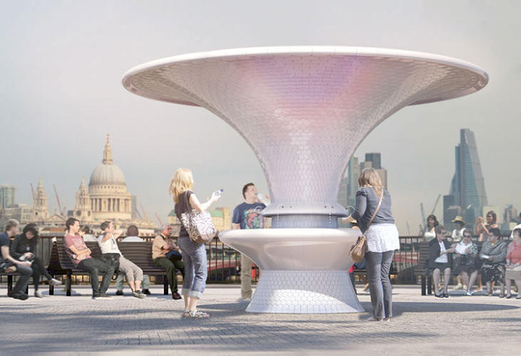 <p>Many of the designs are intended to create places where people might want to linger.</p>