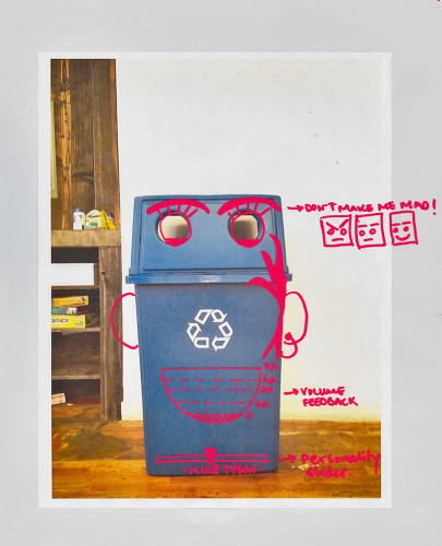 <p>This Mike Tyson recycling bin gets pissed if you mess with it.</p>