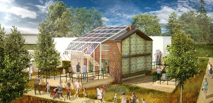 "<p>These solar panel ""skins"" are a modern update to Dutch post-war row homes.</p>"