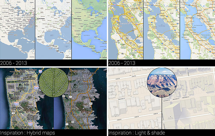 <p>A comparison between the old Maps and the new Maps shows a much cleaner look, based off vector graphics, not tiles.</p>