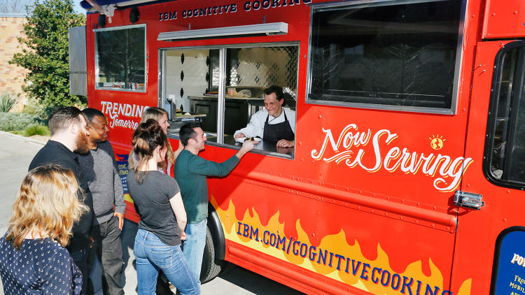 <p>The IBM Watson Food Truck at SXSW this week.</p>