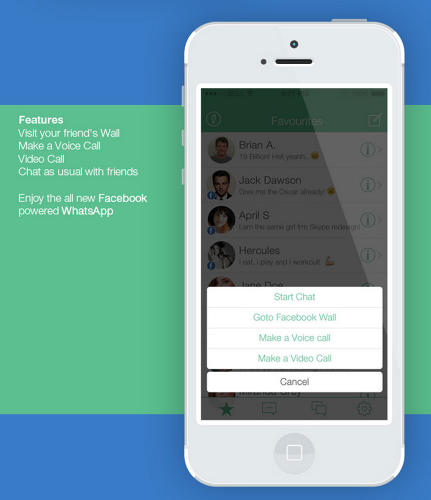 <p>It also integrates Facebook's chat protocols into WhatsApp.</p>