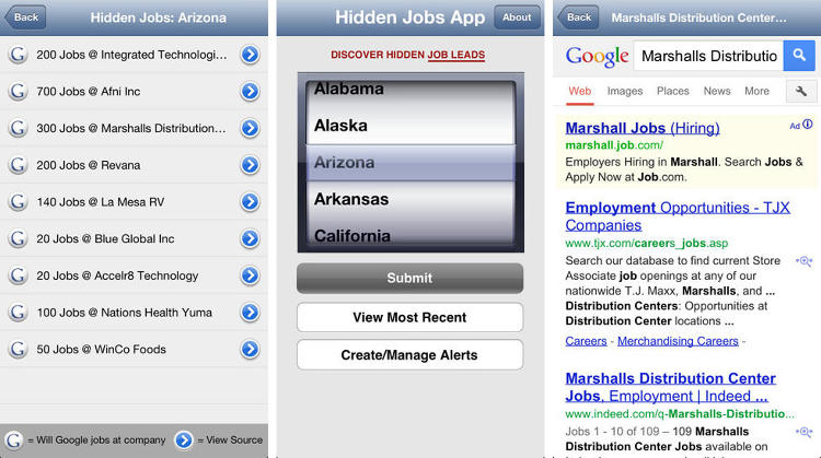 <p>Why search for just one gig when you could be trolling for hundreds? This app scours news articles, company press releases and online media daily to get a sneak peek at companies that have announced expansions and new locations—thus ensuring you get a jump start on upcoming positions before they hit the career sites. (Fact: Up to 80 percent of job openings aren't advertised.)</p>