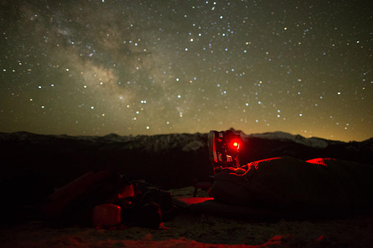 <p>The pair took lots of nighttime shots to show off the crystal-clear skies above Yosemite.</p>
