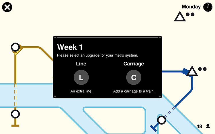 <p>The game isn't totally realistic, but does give a sense of the trade-offs subway systems must manage to get everyone where they want to go.</p>