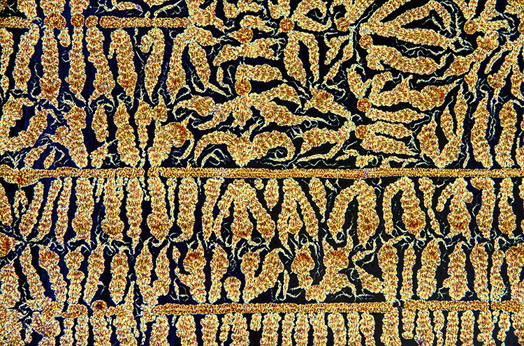 <p>Some of these images could be mistaken for human-made artworks: oxidized Vitamin C (ascorbic acid) crystals resemble a tapestry in gold thread.</p>