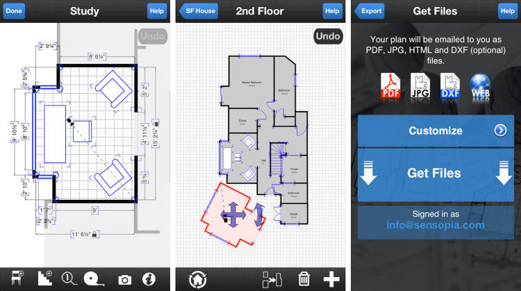 <p>Drafting dimensions and taking measurements is tedious and mistake-prone. Use your smartphone or tablet camera to take dimensions of your space and generate a floor plan. Take your fancy new plan to the home improvement store and look like a pro.</p>